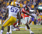Ole Miss kicker Bryson Rose (81) misses on a 52 yard field goal attempt vs. LSU at Tiger Stadium in Baton Rouge, La. on Saturday, November 17, 2012. LSU won 41-35.....