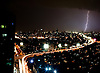 A storm over Manila during monsoon season, 2009.