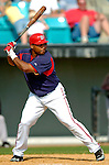 14 March 2006: Marlon Byrd, outfielder for the Washington Nationals, at bat during a Spring Training game against the Florida Marlins. The Marlins defeated the Nationals 2-1 at Space Coast Stadium, in Viera, Florida...Mandatory Photo Credit: Ed Wolfstein..