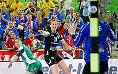 Linea Torstensson of Krim during handball match between RK Krim Mercator and Gyori Audi ETO KC (HUN) in 3rd Round of Group B of EHF Women's Champions League 2012/13 on October 28, 2012 in Arena Stozice, Ljubljana, Slovenia. (Photo By Vid Ponikvar / Sportida)