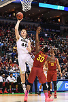 MILWAUKEE, WI - MARCH 18: Purdue Boilermakers center Isaac Haas (44) shoots over Iowa State Cyclones guard Deonte Burton (30) during the first half of the 2017 NCAA Men's Basketball Tournament held at BMO Harris Bradley Center on March 18, 2017 in Milwaukee, Wisconsin. (Photo by Jamie Schwaberow/NCAA Photos via Getty Images)