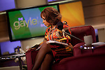 Gayle King  on the set of her television show, The Gayle King Show, on the Opera Network in New York City. ..Photo by Robert Caplin.
