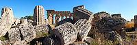Fallen column drums of Greek Dorik Temple ruins  Selinunte, Sicily photography, pictures, photos, images & fotos. 59