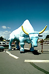 Minnesota Lake Country:.Paul Bunyan's Babe The Blue Ox in Brainerd..Photo copyright Lee Foster, www.fostertravel.com..Photo #: mnlake104, 510/549-2202,.lee@fostertravel.com