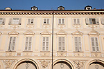 Facades on St Carlo Square in Turin - Torino; Italy