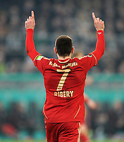 FUSSBALL   DFB POKAL   SAISON 2011/2012   HALBFINALE   21.03.2012 Borussia Moenchengladbach - FC Bayern Muenchen  JUBEL Franck Ribery (FC Bayern Muenchen)