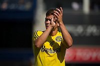 BRONX, NY - Saturday August 29, 2015: New York City FC loses 1-2 to the Columbus Crew at home at Yankee Stadium during the 2015 MLS regular season.