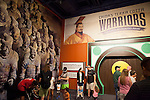 "Entrance to the ""Terra Cotta Warriors: The Emperor's Painted Army,"" Exhibit directly from Xian in the Shaanxi Province, China debuted in 2014 at the Children's Museum, Indianapolis, Indiana, USA"