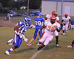 Water Valley's K.J. Lee (17) runs vs. Calhoun City in Water Valley, Miss. on Friday, September 2 2011. Calhoun City won 16-14..