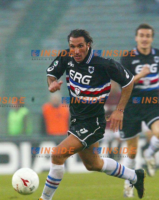 Roma 18/1/2004<br /> Roma Sampdoria 3-1<br /> Fabio Bazzani (Sampdoria)<br /> Foto Andrea Staccioli Insidefoto