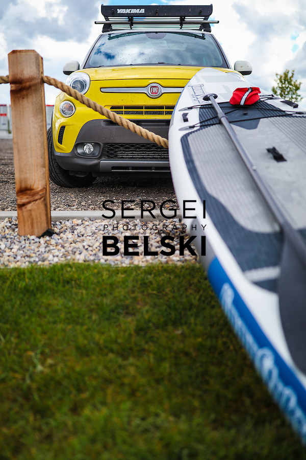 Fiat SUP at Chestermere Lake. Photo Credit: Sergei Belski