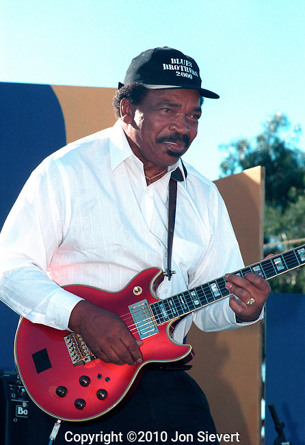 "Matt ""Guitar"" Murphy, 9/20/97.San Francisco Blues Festival, American blues guitarist who played with Howlin' Wolf in 1948 and went on to work with Little Junior Parker, Ike Turner, Memphis Slim, James Cotton, Otis Rush, Etta James, and most famously the Blues Brothers, the band founded by""Saturday Night Live"" comedians/actors John Belushi and Dan Ackroyd for the movie of the same name."