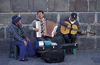 Street musicians in old Quito, Ecuador