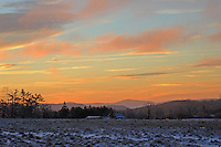 Sunrise on a Frigid Winter Morning on Pitcher Mountain with a View of Crotched Mountain in New Hampshire