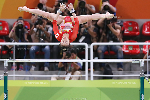 Yuki Uchiyama (JPN), <br /> AUGUST 9, 2016 - Artistic Gymnastics : <br /> Women's Final <br /> Uneven Bars <br /> at Rio Olympic Arena <br /> during the Rio 2016 Olympic Games in Rio de Janeiro, Brazil. <br /> (Photo by Sho Tamura/AFLO SPORT)