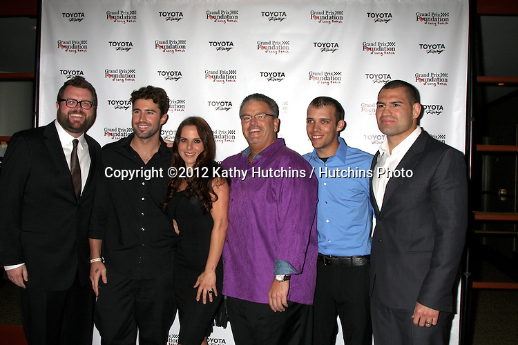 LOS ANGELES - APR 13:  Rutledge Wood, Brody Jenner, Kate del Castillo, Jerry Westlund, Bryan Clauson, Cain Velasquez at the Long Beach Grand Prix Foundation Gala at Westin on April 13, 2012 in Long Beach, CA
