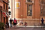 Street scene in Ravenna, Italy.