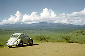 Scenic view of  Kenya with a classic VW Beetle car