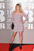 Sara Cox<br /> The Brit Awards at the o2 Arena, Greenwich, London, England on February 22, 2017.<br /> CAP/PL<br /> &copy;Phil Loftus/Capital Pictures /MediaPunch ***NORTH AND SOUTH AMERICAS ONLY***