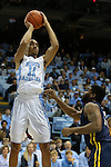 28 December 2015: North Carolina's Brice Johnson. The University of North Carolina Tar Heels hosted the UNC Greensboro Spartans at the Dean E. Smith Center in Chapel Hill, North Carolina in a 2015-16 NCAA Division I Men's Basketball game. UNC won the game 96-63.