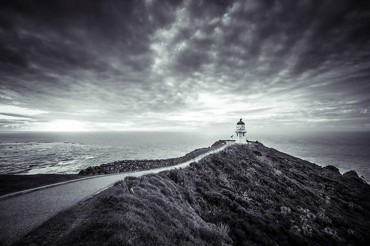 Cape Reinga Lighthouse, Northland, New Zealand - stock photo, canvas, fine art print