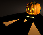 Halloween jack-o-lantern conceptual 3D illustration