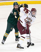 Nick Bruneteau (UVM - 4), Kevin Hayes (BC - 12) - The Boston College Eagles defeated the University of Vermont Catamounts 4-1 on Friday, February 1, 2013, at Kelley Rink in Conte Forum in Chestnut Hill, Massachusetts.