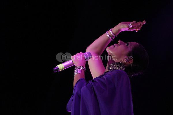 "Lila Downs performs during the ""Mexicanos Cantan"" concert at Alonzo Vidal Plaza during Pitic 2012 in Hermosillo. Sonora Mexico. May 28, 2012.  Credit: Baldemar de los Llanos/NortePhoto/MediaPunch Inc. ***NO MEXICO*** ***NO SPAIN***"