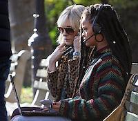NEW YORK, NY November 07:Cate Blanchett, Rihanna, shooting on location for Ocean 8 in Central Park New York .November 07, 2016. Credit:RW/MediaPunch