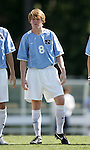 11 September 2005: Dax McCarty. The University of North Carolina Tarheels defeated the University of South Carolina Gamecocks 2-0 in an NCAA Divison I men's soccer game at Fetzer Field in Chapel Hill, NC.