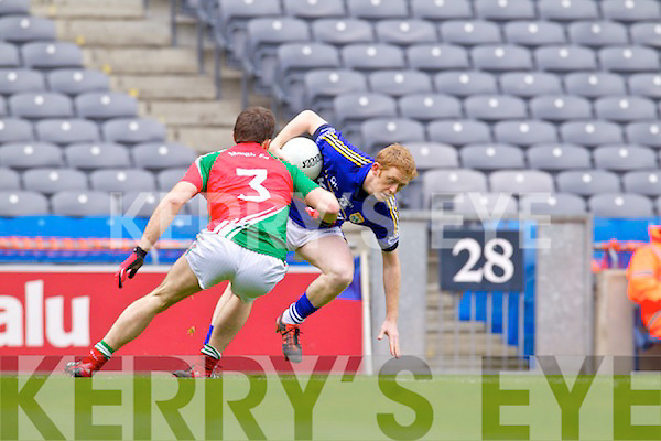 Colm Cooper Kerry in action against  Ger Cafferkey Mayo in the National Football League Semi Final at Croke Park on Sunday.