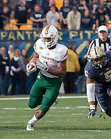 Miami running back Mark Walton. The Miami Hurricanes football team defeated the Pitt Panthers 29-24 on  Friday, November 27, 2015 at Heinz Field, Pittsburgh, Pennsylvania.
