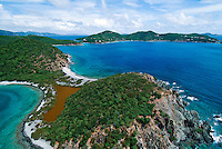 Aerial view of Turner Point<br /> St. John<br /> U.S. Virgin Islands