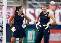 Hope Solo, Nicole Barnhart. The USWNT defeated Sweden, 3-0.