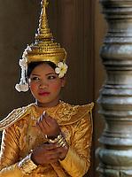 APSARA Dancer at Angkor Wat, Siem Rep Cambodia