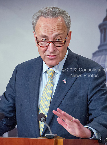 United States Senator Chuck Schumer (Democrat of New York) holds a press conference in the Capitol in Washington, DC on Tuesday, March 22, 2016.  In his prepared remarks the Senator condemned today's bombings in Brussels and called on US Senate Republicans to meet Judge Garland and hold confirmation hearings ad a vote on his nomination to replace Justice Scalia on the US Supreme Court. <br /> Credit: Ron Sachs / CNP<br /> (RESTRICTION: NO New York or New Jersey Newspapers or newspapers within a 75 mile radius of New York City)