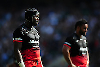 Maro Itoje of Saracens looks on during a break in play. Aviva Premiership Final, between Saracens and Exeter Chiefs on May 28, 2016 at Twickenham Stadium in London, England. Photo by: Patrick Khachfe / JMP