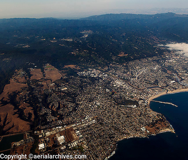 aerial photograph Santa Cruz, California
