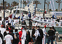 The Opening ceremony of Sailing Arabia The Tour 2012. Bahrain's Amwaj Marina.Sailors and dignitaries joined His Highness Sheikh Nasser Bin Hamad Al Khalifa, President of Bahrain Olympics committee to mark the start of the tour. .Credit: Lloyd Images