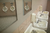 A Men's restroom Dorton Arena in Raleigh, North Carolina on Tuesday, November 25, 2014. (Justin Cook)