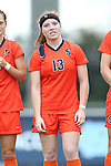17 October 2013: Syracuse's Maddie Iozzi. The University of North Carolina Tar Heels hosted the Syracuse University Orangemen at Fetzer Field in Chapel Hill, NC in a 2013 NCAA Division I Women's Soccer match. UNC won the game 1-0.