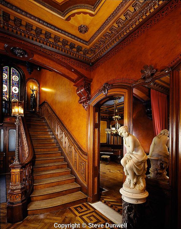 governor henry lippitt mansion providence ri victorian interior 1865