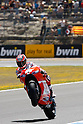May 1, 2010 - Jerez, Spain -  American Nicky Hayden powers his bike during a free Moto GP practice session at Jerez de la Frontera's circuit on May 1, 2010. (Photo Andrew Northcott/Nippon News).