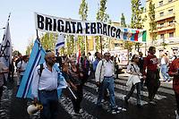 Roma 25 Aprile 2007. Manifestazione per il 62° anniversario  della liberazione dal Nazifascismo da Porta San Paolo..Roma 25 April 2007. Demonstration for the 62th anniversary of liberation from Nazi-fascism from Porta San Paolo