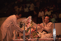 Ravi Shankar in Calcutta, India in 1996