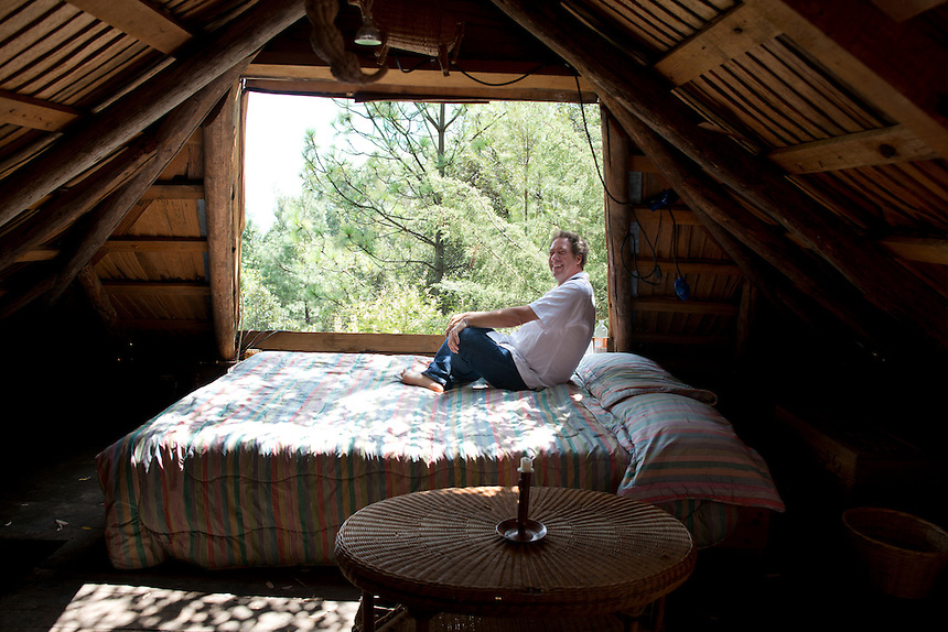 Malcolm at his house in Erongaricuaro, Michoacan, Mexico