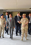 Egyptian President Abdel Fattah al-Sisi, inspects the Forsan resort of the armed force, in Ismailia, Egypt, on April 26, 2017. Photo by Egyptian President Office