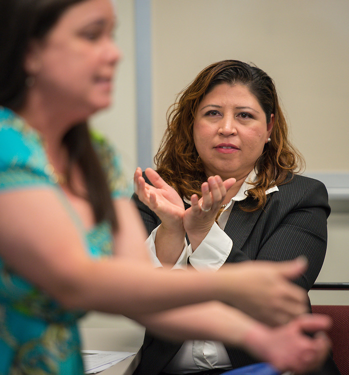 Ana Cantu participates in the New and Emerging Leaders Institute, July 15, 2014.