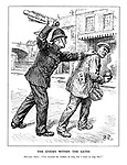 """The Enemy Within the Gates. Policeman Hoare: """"I'm counted the kindest of men, but I mean to stop!"""""""