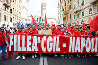 Roma, 22 Giugno 2013<br /> Lavoro &egrave; Democrazia. Manifestazione di CGIL, CISL e UIL. Maurizio Landini  Segretario nazionale della FIOM<br /> Demonstration by trade unions in Rome